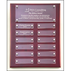 P5340 Rosewood High Gloss Perpetual Plaque with Acrylic Engraving Plates.