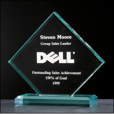 "A2150 Summit Series 3/4"" thick acrylic Diamond award on acrylic base."