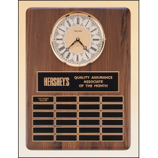 BC308 American walnut vertical wall clock with 24 plates.