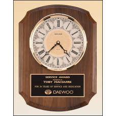 BC380 American walnut vertical wall clock.