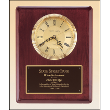 BC68 Rosewood stained piano finish vertical wall clock.