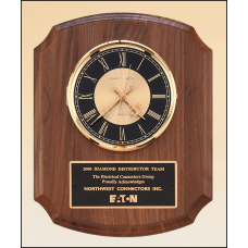 BC828 American walnut vertical wall clock.
