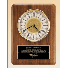 BC888 American walnut vertical wall clock.