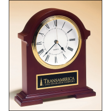 BC901 Napoleon Clock traditional styling with deep,hand-rubbed mahogany finish.