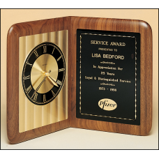 BC95 American walnut clock with an Airflyte Edge.