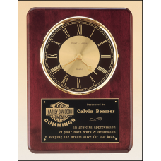 BC98 Rosewood stained piano finish vertical wall clock.