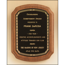 P1088 American walnut plaque available in 5 sizes.