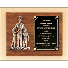 P1965 Police award with antique bronze finish casting.