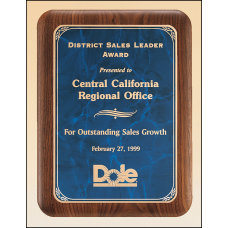 P3486 Solid American walnut Airflyte plaque available in three sizes and three marble finishes.