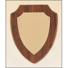 P611 American walnut plaque with a brushed brass plate.