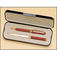 PKC6200R  Wooden pen and letter opener set.
