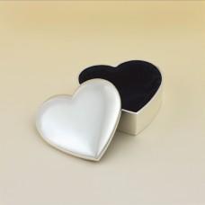 106 Silver Plated Heart Keepsake Box
